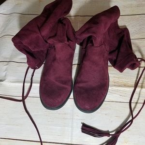 Torrid Shoes - Torrid knee high faux suede boots.  Size 8.5W